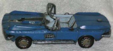 Vintage Reproduction Antique Corvet Automobile Convertible Decorative Display