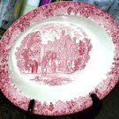 Wedgwood Bowl Open Vegetable Red Romantic England Warwick Hospital Oval Dish New