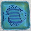 Sara Baking Dish Italian Hand Painted Fish Casserole Italy Blue Stoneware New