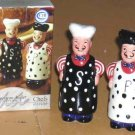 American Atelier Chefs Salt & Pepper Shakers Asian Japanese Chinese Ceramic New