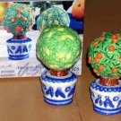 American Atelier Salt & Pepper Shakers Topiary Tuileries Orange Lemon Trees New