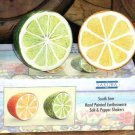 Sakura Salt & Pepper Shakers South Seas Orange Lime Stoneware Tropcial New
