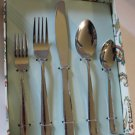 Cynthia Rowley New York Flatware Set Stainless Steel Burn Out Design 20pc New