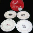 Chef Emeril Plates Quotes Red White Black Bistro BAM! Kick It Up Notch Set 4 New