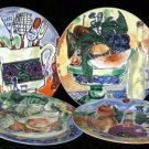 Sabatier Plates Belle Cuisine Dessert Salad Bone China Porcelain Set 4 New