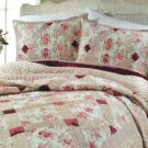 Taurus Quilt Hand Stitched Full Queen Velvet Satin Cotton Floral Designer New