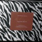 Divatex Sheet Set Full Luxury Satin Poly Zebra Black White Stripe Print New