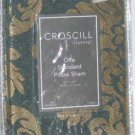 Croscill Pillow Sham Antonia Slate Gold Scroll Standard Medallion Jacquard New