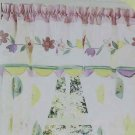 Thats Mine Valance Window Mary Beth Applique Embroidery Flowers Blocks New