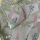 Thats Mine Sham Pillow Lattice of Flower Applique Embroidery Standard New