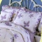 Thats Mine Pillow Sham Sweet Lavender Butterflies Flowers Applique Standard New