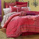 Candie's Pillow Neck Bolster Apple Pie Netting Bed Red Purple Velveteen New