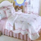 Thats Mine Quilt Bed Full Ballet Lesson Calico Gingham Applique Embroidery New