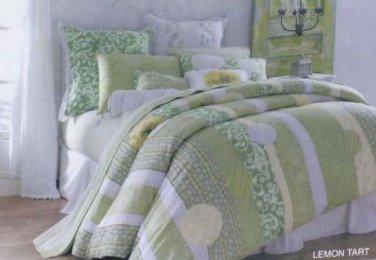Candies Sheet Set King Lemon Tart Geometric Floral Green 100% Cotton st Quality