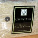 Suite 109 Duvet Comforter Cover Queen Gold-Yellow Cotton Chenille Over Sized New