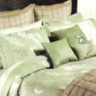 Nine West Sheet Set King Meadow Leaves Green 350 TC Sateen Cotton 4 pc New
