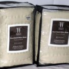 Wamsutta Pillow Shams Knot Quilt Quilted Chalk Ivory Standard Set 2 New