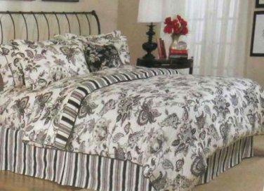 Grammercy Duvet Cover Sheet Shams Bed Pillows Set King Stripe Paisley 9 Pc New
