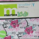 Martex Kids Sheet Set Twin Roses Girly Floral Microfiber First Quality New