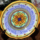Deruta Plate Hand Painted Italian Majolica Stylized Floral Salad Dessert Italy