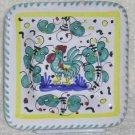 Sambuco Plate Tray Italian Majolica Talavera Teal Rooster Appetizer Decor New