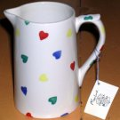 Moorland Pitcher Staffordshire Stoneware Ceramic Mini Hearts Burslem England New