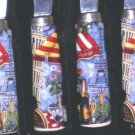 Canape Knives Paris Cafe Eiffel Tower Pisa Wine Party Knife 4pc New