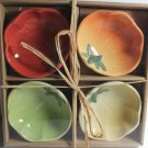 Hausenware Bowls Tomatoes Tomato Shape Dipping Appetizer Condiment 4 Piece New