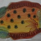 Ita Lica Ars Tray Fish-Shaped Serving Appetizer Hand Painted Italy Italian New
