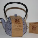 Unity Tetsubin Cast Iron Tea Kettle Daisy Flora Stainless Infuser Mauve 24oz New