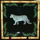 Raymond Waites Platter Safari Jungle Snow Leopard Serving Stoneware Collectible