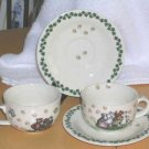 Paul Cardew Cups & Saucers Bears Animals Paw Prints Porcelain 25th Celebration