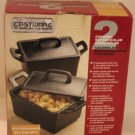Tabletops Cast Iron Casseroles Handle Covered Rectangular Castware Bakeware New