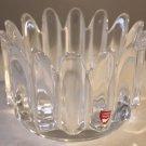 Orrefors Sweden Lead Crystal Art Bowl Vase 24% Pbo Sven Palmqvist Collectible