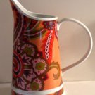 Rosanna Pitcher Ceramic Paisley Unique Colorful Glazed Tankard Style New
