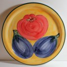 Pizzato Italy Round Tray Serving Platter Hand Painted Fruit Tomato Eggplants New