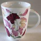 Roy Kirkham Mug Sweet Peas Pink Burgundy Flowers Fine Bone China England New