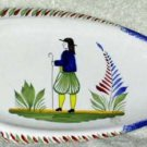Quimper Platter France Quimperware Fish-Shaped Shepard Collectible Serving New