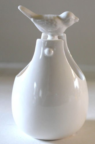 Paris Royal Basket Handled Porcelain Figural Bird Ivory Asian Inspired Bowl New