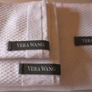 Vera Wang Towel Set White Egyptian Cotton Loops Geometric Quilted Terry 3 Pc New