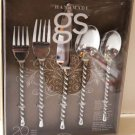 Handmade Gourmet Settings Flatware Silver Tear 18/10 Stainless Steel 20pc New