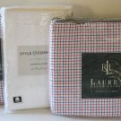 Ralph Lauren Sheet Set University Tattersal Block Pillowcases White 4pc New