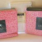 Ralph Lauren Sheet Set Nellie Floral Watermelon Pink & White Pillowcases 4pc New