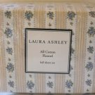 Laura Ashley Flannel Sheet Set Full Primrose Hill Floral Yellow Stripe Blue New