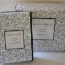 Laura Ashley Flannel Sheet Set Queen Caitlyn Gray Leaf 6pc Extra Pillowcases New