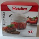 Metaltex RotoMac Chopper Movable Blades Manual Pull Swiss Technology New