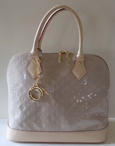 Invece Italian Handbag Patent Leather Dome Cuccino Red Made Italy New