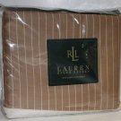 Ralph Lauren Sheet 52nd Street Caramel Pinstripe Queen Flat 100% Cotton 370 TC