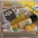 Jaqua Girls Bath Kit Spa Seaweed Soap Dish Lotion Salts Duck Candle Mitt New