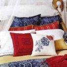 Ralph Lauren Sheet Seychelles Border Queen Flat First Quality 100% Cotton New